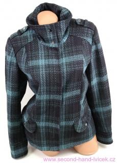 dc75b867855 Dámský zeleno-černý kostkovaný kabátek vel.