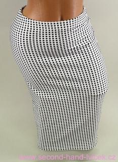 940d7d37326 Dámská černo-bílá elastická pouzdrová sukně vel.