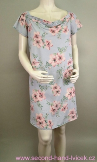 d53118d8b5e6 Dámské letní světle šedé květované šaty New look vel.